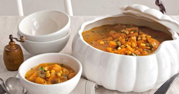 Kick off the meal with a starter of pumpkin soup or chowder.
