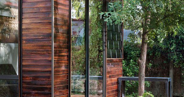 I Love This Rustic Dark Wood Siding On The Studio Exterior