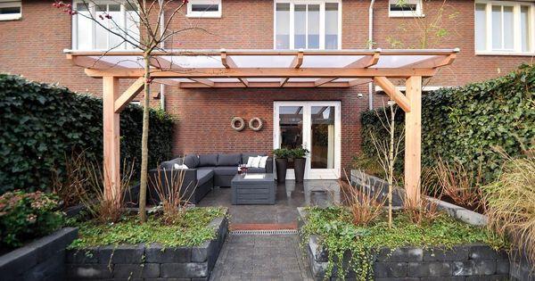 Houten pergola met glazen dak google zoeken tuin pinterest verandas garden ideas and house - Pergola dak platte ...