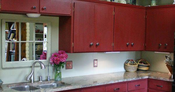 Red chalk paint chalk paint kitchen cabinets and chalk paint kitchen