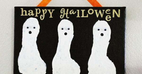 Halloween ghost foot prints
