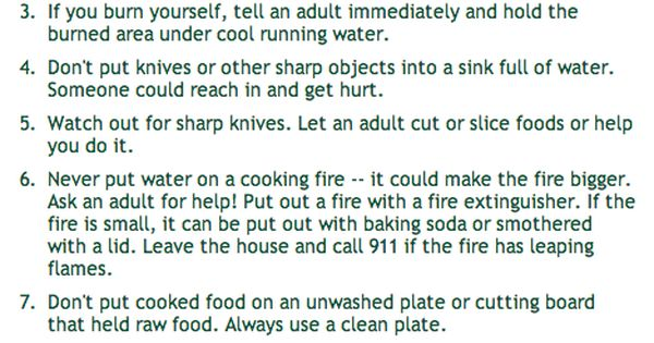 Kitchen rules for 8 kitchen safety rules