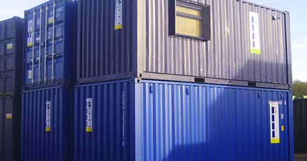 Blue 20ft Shipping Containers Office Container And Storage Container Stacked From Cont 20ft Shipping Container Shipping Container Shipping Container Office