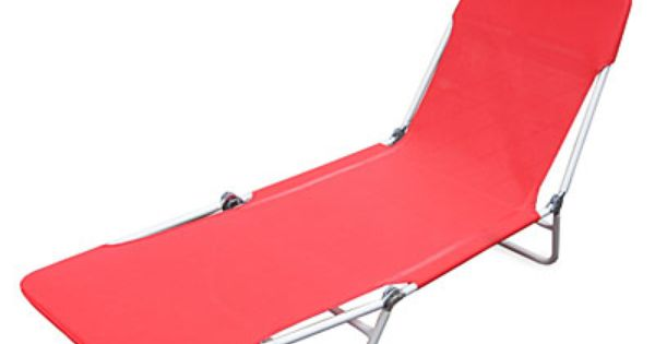 Wilson & Fisher Red Sling Folding Lounge Chair at Big Lots