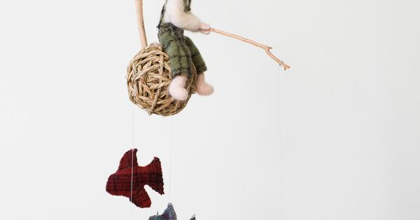 Plaid Fisherman Mobile by puddlestomper on Etsy  Felt  Pinterest  인형