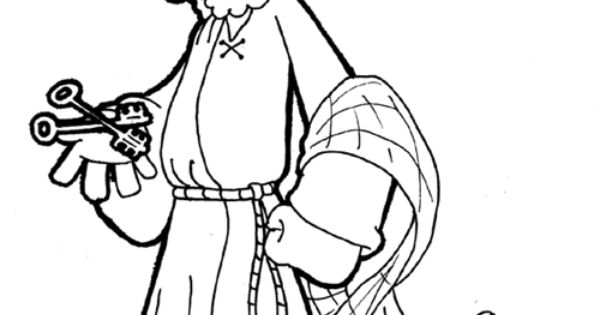 children coloring pages peter paul - photo#10