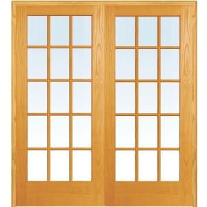 Builders Choice 48 In X 80 In 10 Lite Clear Wood Pine Prehung Interior French Door Hdcp151040 French Doors Interior Prehung Interior French Doors French Doors