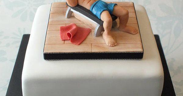 Bodybuilder Muscle Man Cake By Louise Jackson Cake