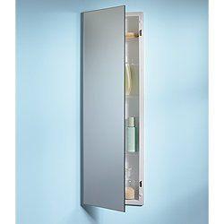 Jensen 735m34whg Pillar Medicine Cabinet With Polished Mirror 12