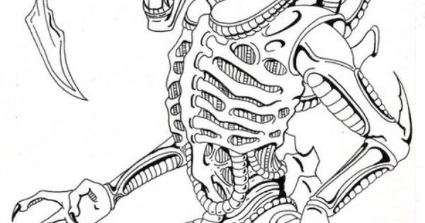 xenomorph drawing alien xenomorph drawing