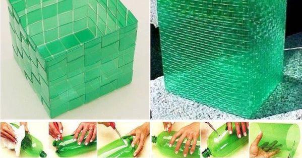 Como hacer una caja contenedor bote de basura de plastico - Contenedor de agua ...