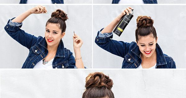 ISPYDIY: twisted top knot bun bun hairstyle howto