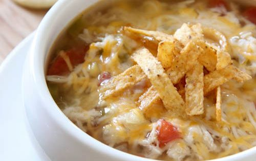 Slow Cooker Chicken Soup, would be good to try.