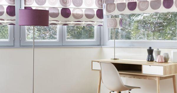 stores bateaux en tissu toupy prune jet de lit abat jour en lin violine coussins en tissus. Black Bedroom Furniture Sets. Home Design Ideas