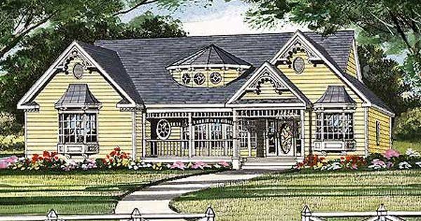 Plan 3814ja Farmhouse Style Ranch Victorian Cottage