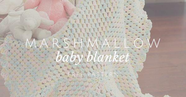 Marshmallow Crochet Baby Blanket Pattern Free : Marshmallow Baby Blanket Blanket