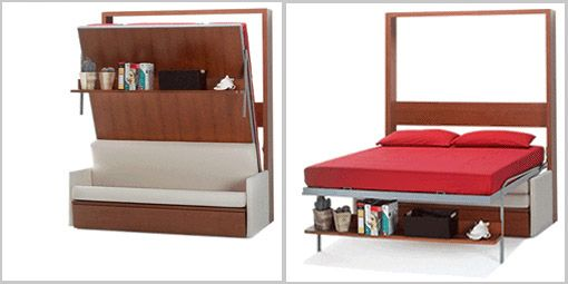 11 space saving fold down beds for small spaces furniture - Small couch for studio ...