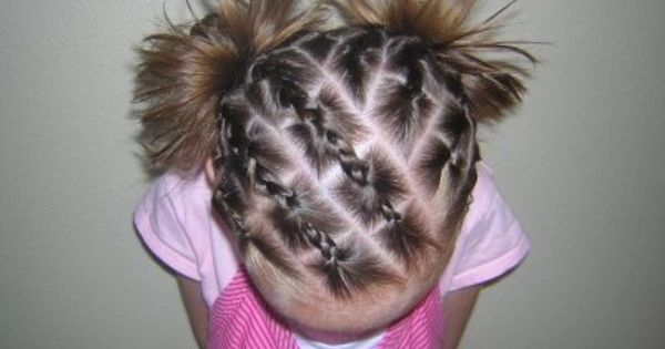 Cheater cornrows! No french braiding required. ;) (I've done this for my
