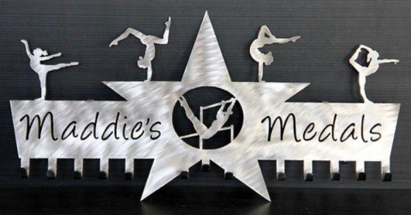 Gymnastics Medals Display Gymnastics Ribbons Holder Personalized Medals Holder Gymnastics Medal Display Medal Display Gymnastics Medals