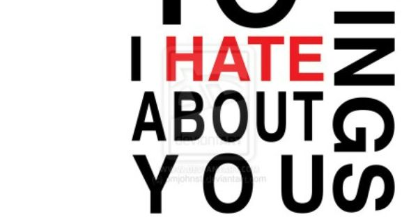 10 Things I Hate About You Movie Poster: 10 Things I Hate About You Minimalist Movie Poster