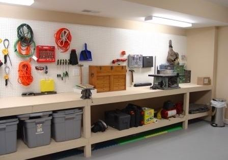 Amazing garage workbench ideas 11 garage workshop for 9999 basement
