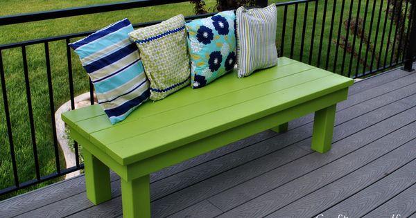 Outdoor bench ideas - Outdoor Handmade Wood Bench Craft Decking And Diy Ideas
