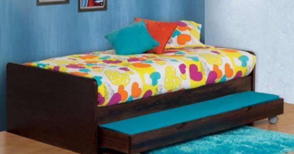 Desde por cama en madera cama auxiliar o cama for Camas infantiles dobles