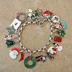 Christmas Keepsake Memento Image of Christmas Tree Vintage Merry Christmas Sterling Silver Charm for Charm Bracelet or Necklace Pendant
