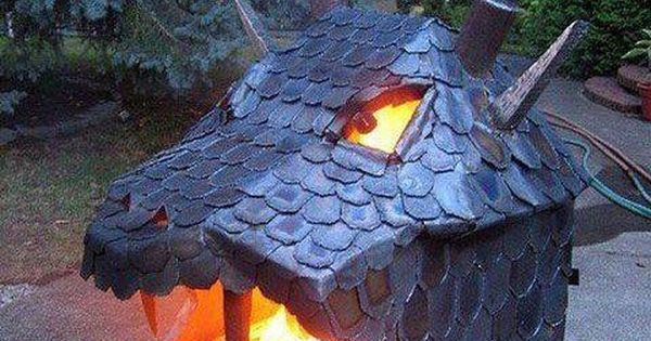 Dragon furnace not quite a kiln but great idea for a fire for Idea fire door