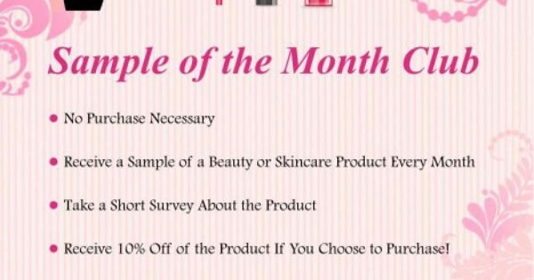my sample of the month club starts 4