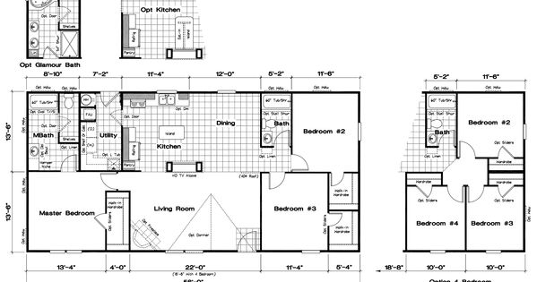 30x50 floor plans floor plans ranch home floor plans for Lucky 4 ranch floor plan