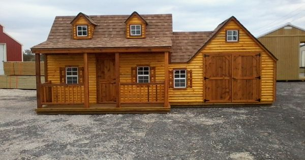 Playhouse With Garage For Bikes Forts And Treehouses