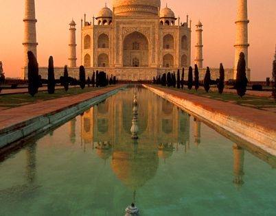 Taj Mahal in Agra, India. As beautiful as everything one has been