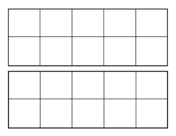 Blank 10 Frames Blank Ten Frames Ten Frames 10 Frame Ten Frames Kindergarten