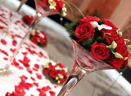 Center piece  Hochzeit in rot & weiß  Pinterest  Hochzeit ...