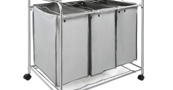 This Laundry Hamper Trolley Is Made From Sturdy And Long Wearing