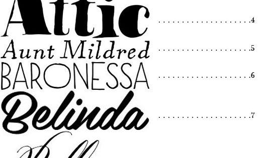 50 fancy fonts