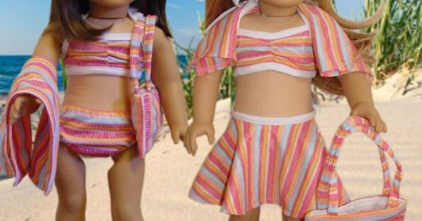 "Amazon.com : 6 piece Swimsuit Set Fits 18"" American Girl Doll Clothes"