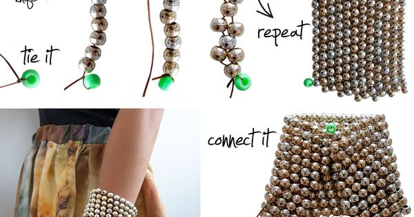 Cool DIY Beaded Cuff Bracelet | How To Make Cool Arm Candy