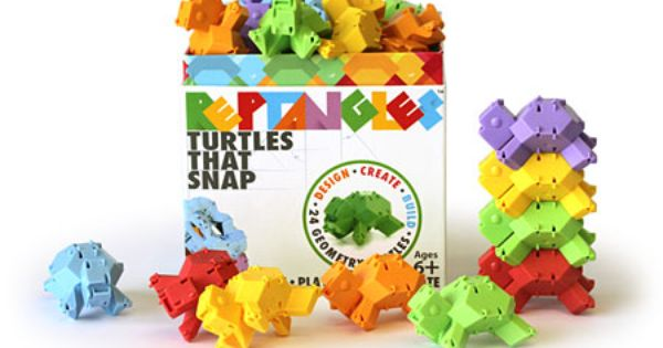 Reptangles -- These uniquely shaped blocks resemble reptiles! Snap them together for