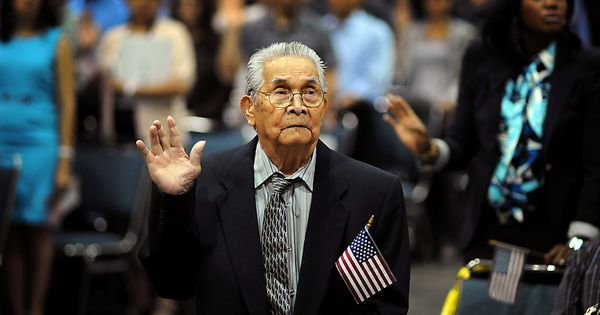 WOW! Joaquin Arciago Guzman, age 102, becomes a U.S. Citizen after coming
