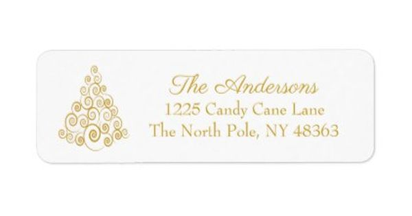30 Custom Christmas Holiday Tree Personalized Address Labels