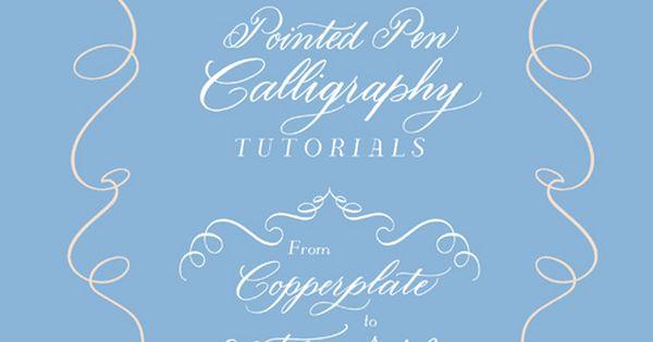 Pointed pen tutorials at the flourish forum free