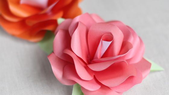 DIY Paper Rose Templates DIY crafts
