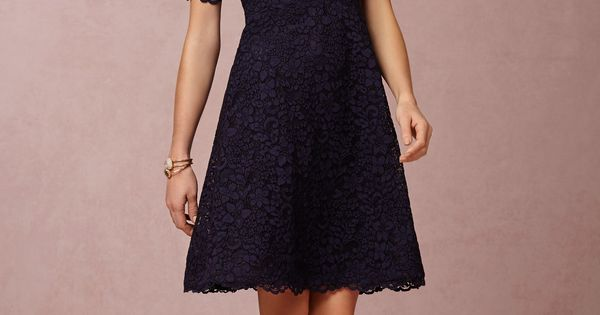 Navy blue lace knee length Mother of the Bride Dress | Dress
