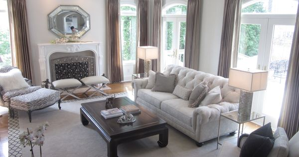 Ethan Allen Chadwick sofa : Formal Living Room : Pinterest : Border rugs, Versailles and Floor lamp