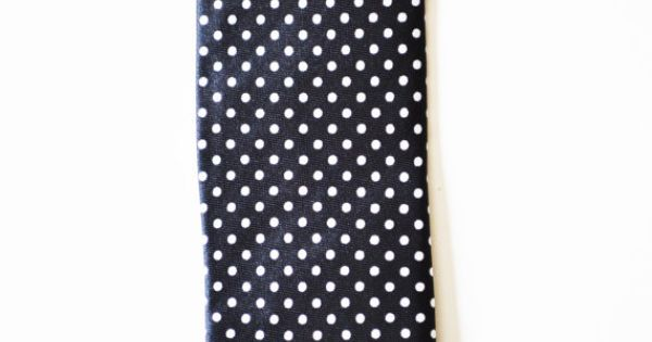 Mens Tie Black and White Polka Dot Skinny Modern by TiestheKnot, $8.99