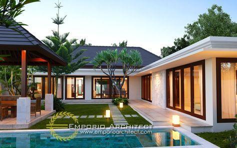 Desain Rumah Bali Modern Jasa Arsitek Desain Rumah Villa Mewah Eksterior Rumah Modern Arsitektur Desain Rumah