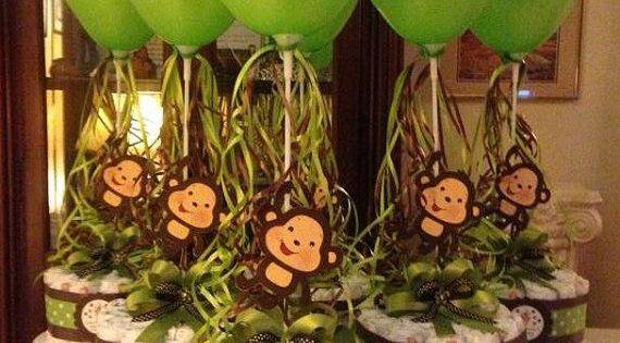 monkey diaper cake.