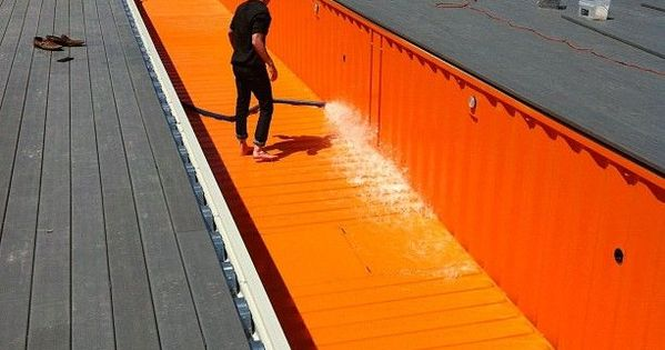 Swimming Pool Made Out Of Shipping Containers Design